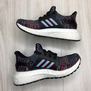 Adidas ULTRABOOST 19 SHOES Black Blue Hi-Res Coral